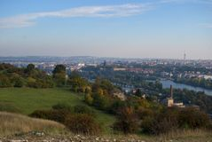 Jesień widok Praga Zdjęcia Stock