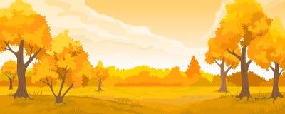 Jesień wiejski krajobraz Ilustracja Wektor