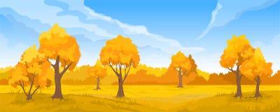Jesień wiejski krajobraz Ilustracji