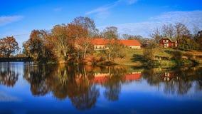 jesień wioska domowa stara chwiejne Fotografia Stock