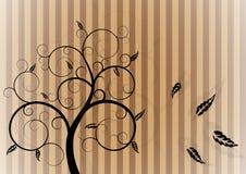 jesień zawijasa drzewo Obrazy Stock