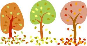 jesienią drzewa Obraz Stock