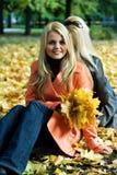 jesienią dziewczyny Obraz Stock