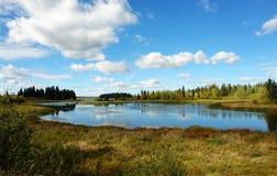 jesienią jeziora Obrazy Stock