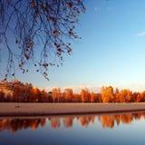 jesienią jeziora księżniczka Obraz Royalty Free