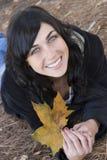 jesienią kobieta Fotografia Royalty Free