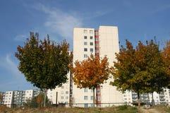 jesienią miasta drzewa Fotografia Stock