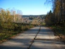 jesienią niebieskiego nieba drzewa Zdjęcia Royalty Free