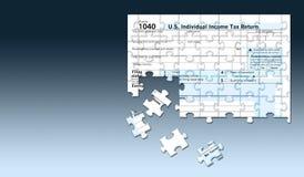 jesienią pól kraju wzdłuż drogi pocztę jest u strony S Federacyjna 1040 podatek dochodowy forma zobaczy jako wyrzynarki łamigłówk ilustracji