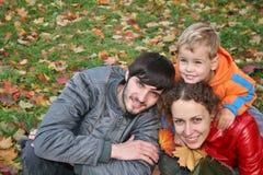 jesienią rodziny Zdjęcia Royalty Free