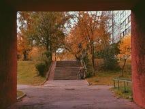 jesienią street Obrazy Royalty Free
