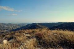 jesienią trawy nawet zielony zostaw pomarańczową cichą widok pogodę Obraz Royalty Free