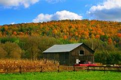 jesienią wieś Fotografia Royalty Free