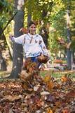 jesienią zabawa Obrazy Stock