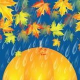 jesienią zbliżenie kolor tła ivy pomarańczową czerwień liści ilustracji