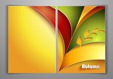 Jesieni Żółta Biznesowa ulotka Zdjęcia Royalty Free