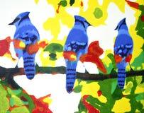 Jesieni błękita sójki Zdjęcie Royalty Free