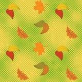 Jesieni bezszwowy tło z halftone Fotografia Stock