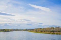 Jesieni błękita krajobraz Obrazy Royalty Free