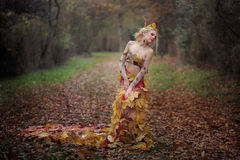 Jesieni boginka Fotografia Royalty Free