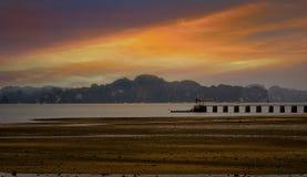 Jesieni Calmness na brzeg Zdjęcie Royalty Free
