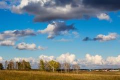 Jesieni chmury Zdjęcia Royalty Free