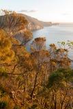 Jesieni Colours nad przylądkiem Hauy, Tasmania, Australia obraz royalty free