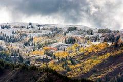 Jesieni Colours w Wyoming Zdjęcia Stock