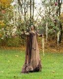 Jesieni czarodziejka Zdjęcie Royalty Free