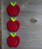 Jesieni czerwieni jabłko Obraz Royalty Free