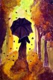 Jesieni dama Ilustracja Wektor