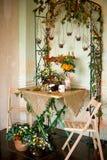 Jesieni dekoracja wnętrze Obraz Royalty Free