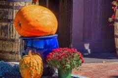 Jesieni dekoracje dla spadków wakacji zdjęcie stock