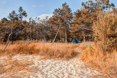 Jesieni Dennego wybrzeża Czarny krajobraz zdjęcia royalty free