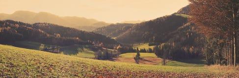 Jesieni dolina Obrazy Royalty Free