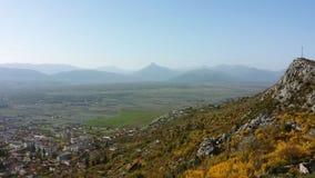 Jesieni doliny Bośnia i Hercegovina Obraz Royalty Free