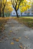 Jesieni droga przemian 3 Obrazy Royalty Free