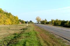 Jesieni droga w Voronezh regionie Fotografia Royalty Free