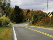 Jesieni droga zdjęcia stock