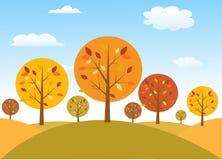 Jesieni drzew wektoru ilustracja Fotografia Royalty Free