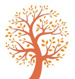 Jesieni drzewa ikona ilustracji