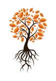 Jesieni drzewa sztuka Obraz Stock