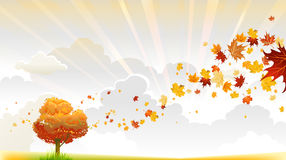 Jesieni drzewo ilustracji