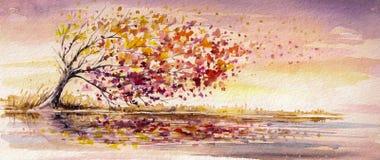 Jesieni drzewo royalty ilustracja