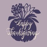 Jesieni dziękczynienia dnia pojęcia tło, prosty styl royalty ilustracja