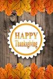 Jesieni dziękczynienia Szczęśliwy tło Obrazy Stock