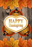 Jesieni dziękczynienia Szczęśliwy tło Zdjęcie Stock