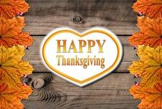 Jesieni dziękczynienia Szczęśliwy tło Zdjęcia Stock