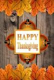 Jesieni dziękczynienia Szczęśliwy tło Obrazy Royalty Free