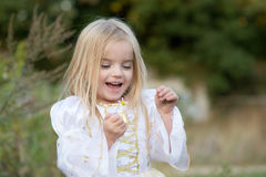jesienią dziecko kwiat ostatnio matka Obraz Royalty Free